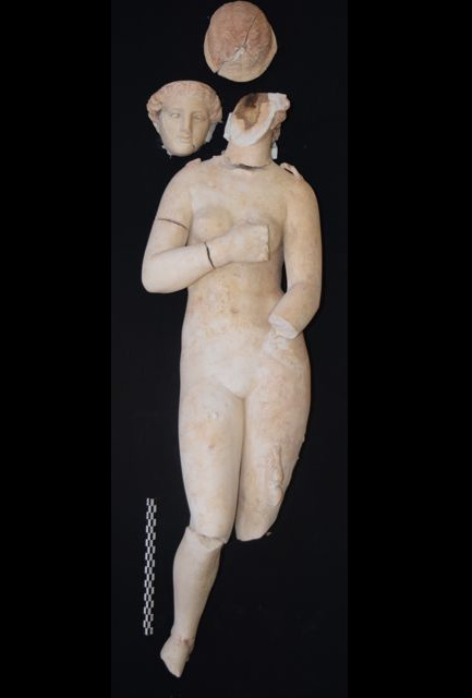 Marble statues of Aphrodite unearthed in Jordan's Petra