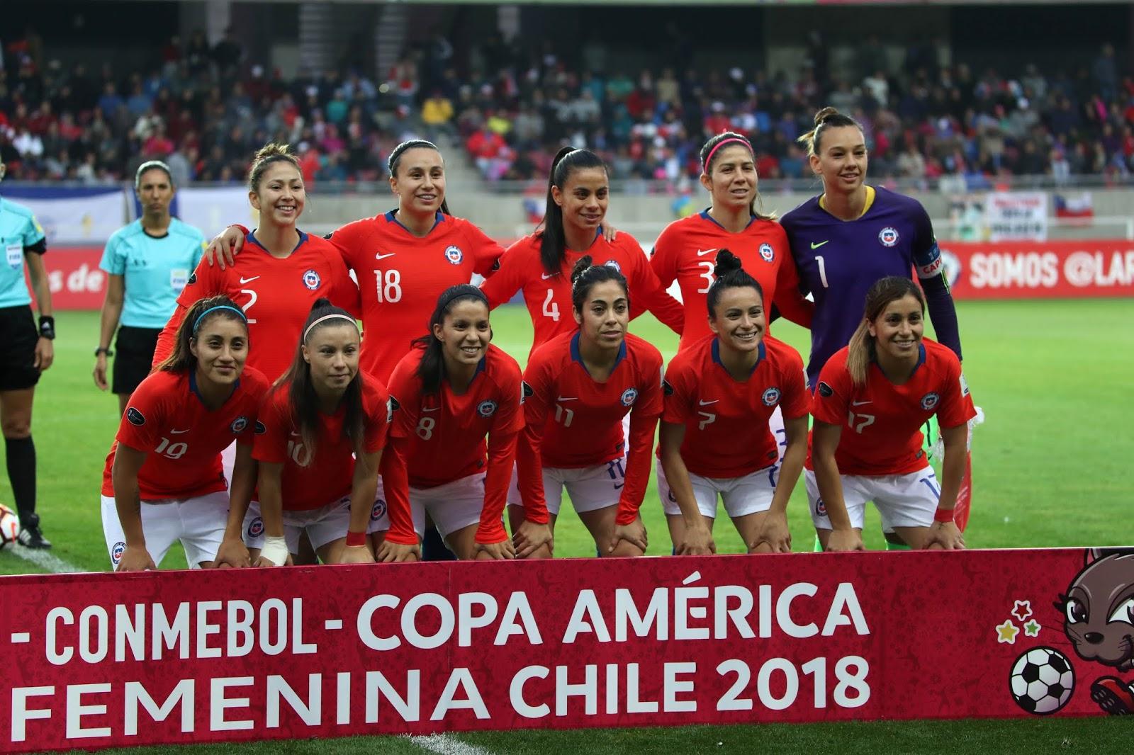 Formación de selección de Chile ante Colombia, Copa América Femenina 2018, 19 de abril