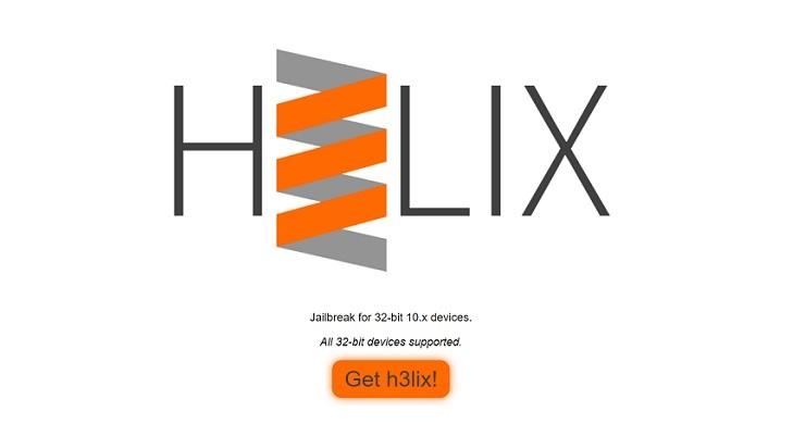 h3lix iOS 10 Jailbreak Tool