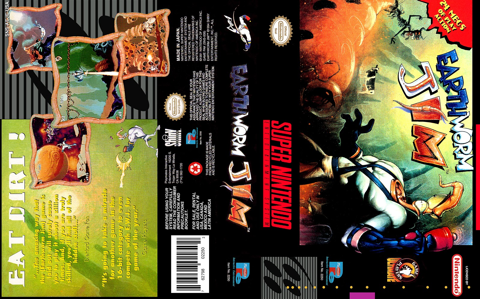 Gamer Labels Earthworm Jim