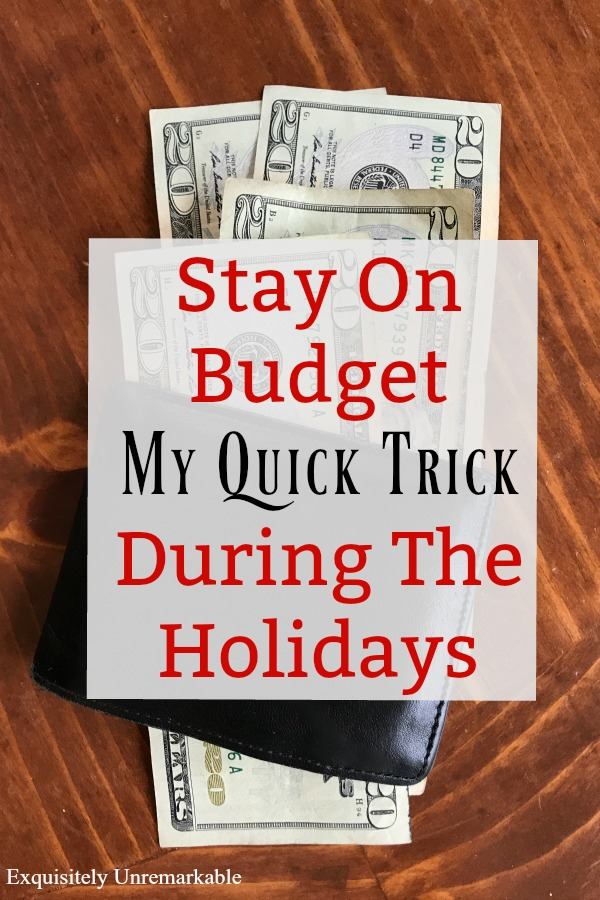 How To Stay On Budget During The Holidays graphic for Pinterest