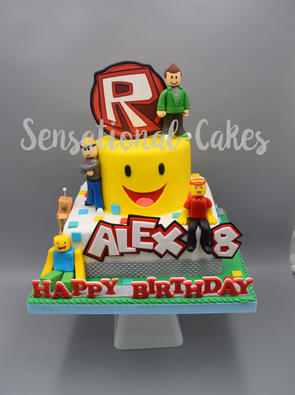 The Sensational Cakes Roblox Theme 3d Cake New Customized 3d