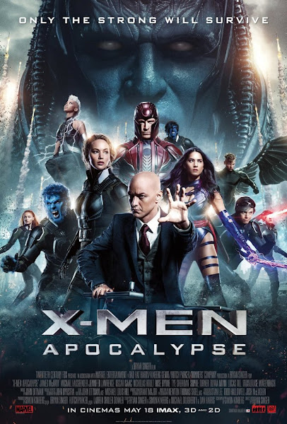 Poster of X-Men Apocalypse 2016 480p Hindi BRRip Dual Audio 300MB HEVC