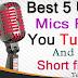 TOP 5: Best 5 USB mics for you tubers|Short film makers|usb studio microphone2017/2018