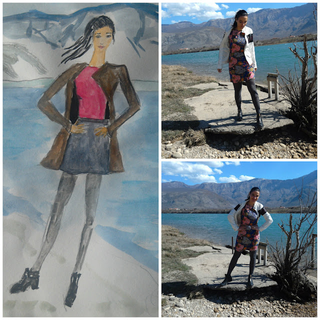Fashion illustration of the day ( location  Mostar lake)