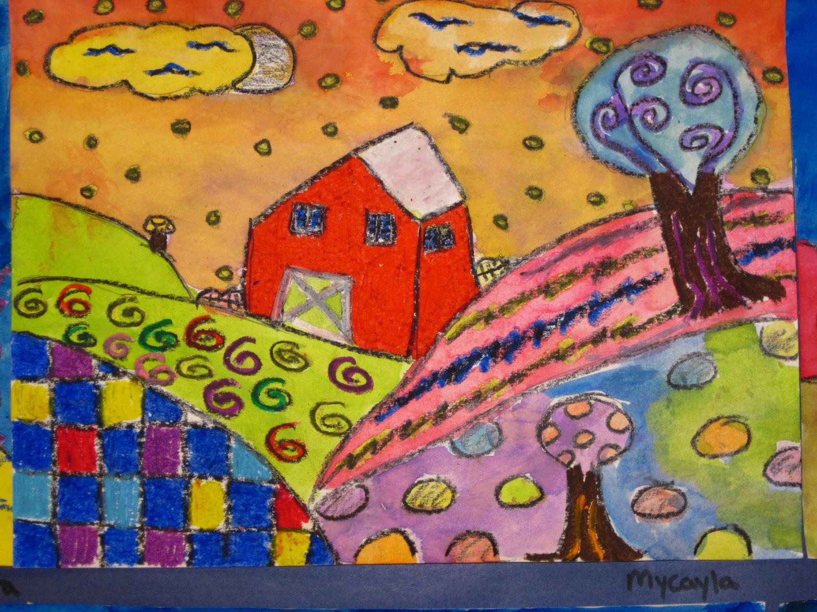 Lines Dots And Doodles Folk Art 4th Grade