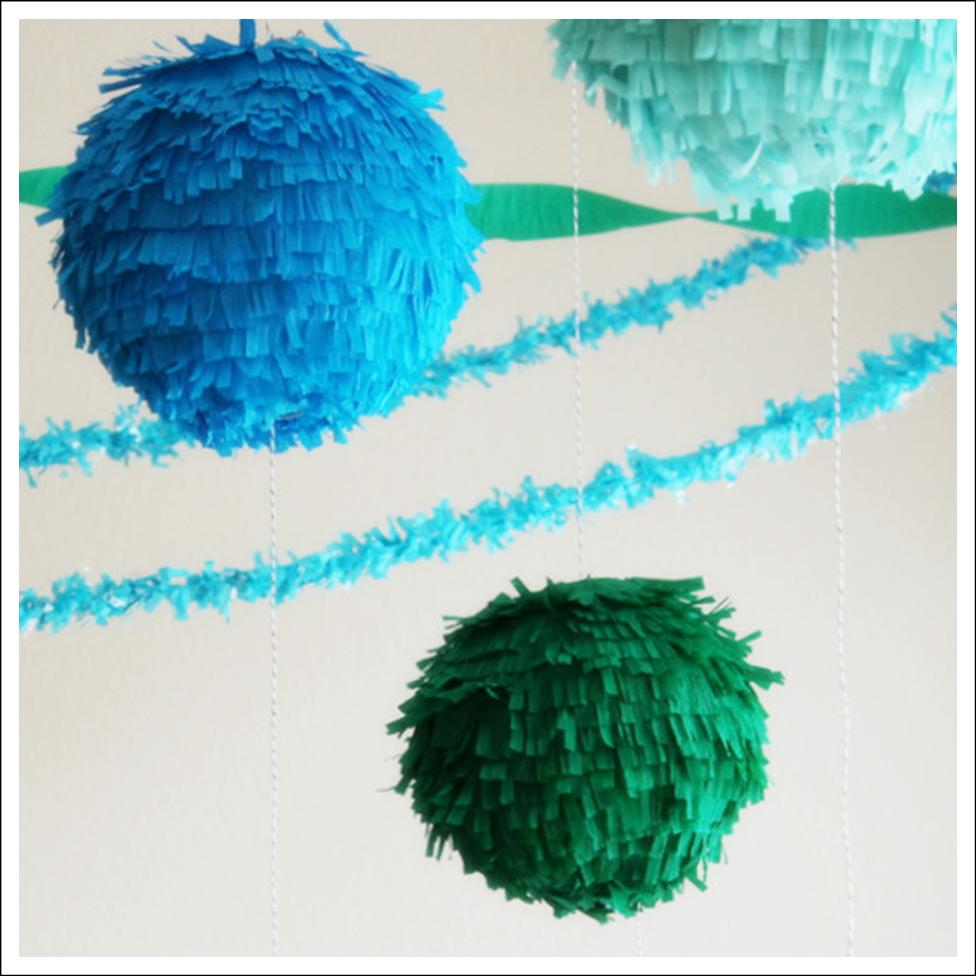 How To Make Paper Balls For Decoration: (MORE IDEAS) Party Decorations Plus A 10 Foot Banana Split