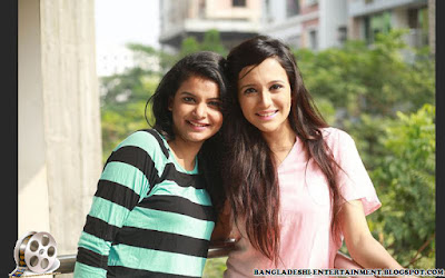 Bangladeshi actress Sabila Nur with model actress faria