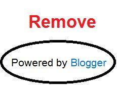 Cara Menghilangkan Tulisan Diberdayakan Oleh Blogger