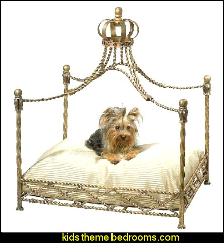 CROWN Dog / Pet Bed Jeweled Antique Victorian