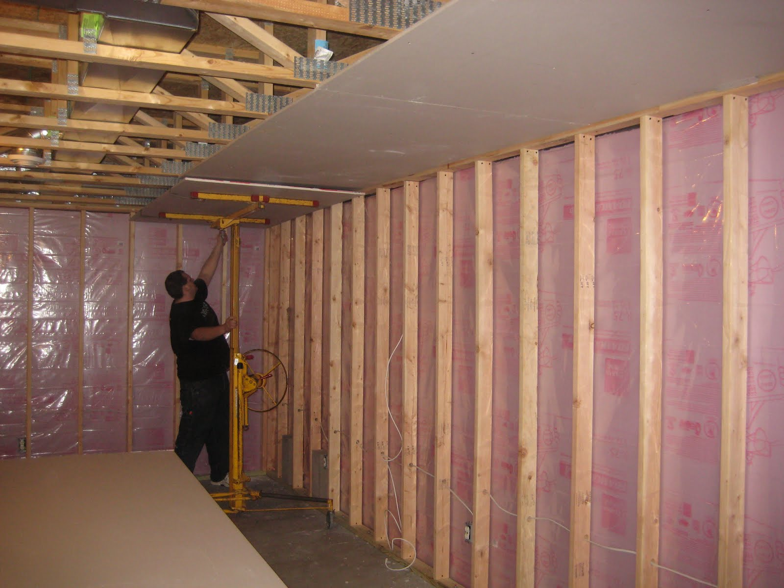Wiring A Basement Ceiling Best Secret Diagram Remodel Katie S Blog Part 2 Framing And Walls Install Insulation