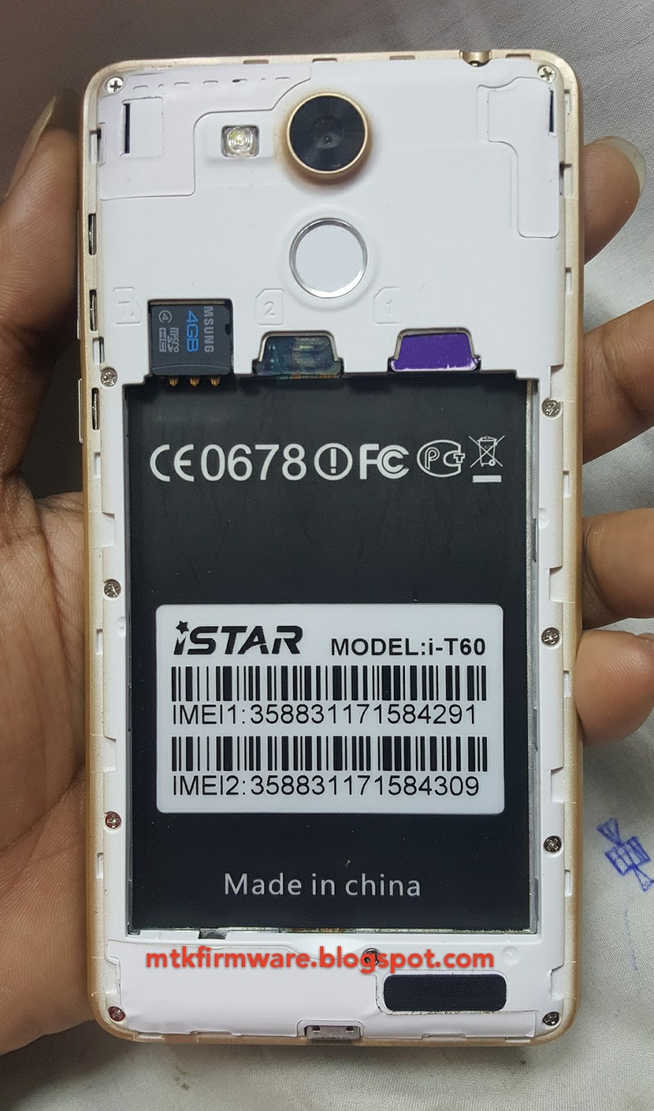 android mtk: istar i-t60 firmware MT6582 Flash File Read