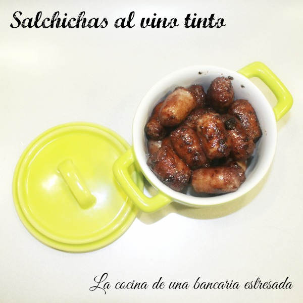 Receta de salchichas al vino tinto