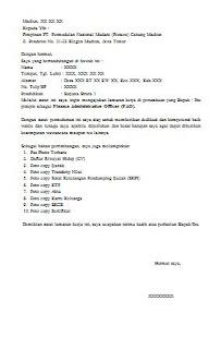 Surat pernyataan pegawai negeri sipil