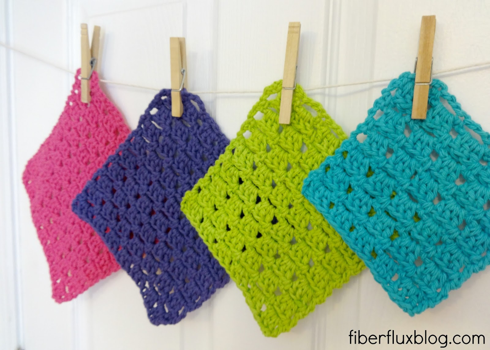 Fiber Flux: Free Crochet Pattern...Sparkling Clean Dishcloths!