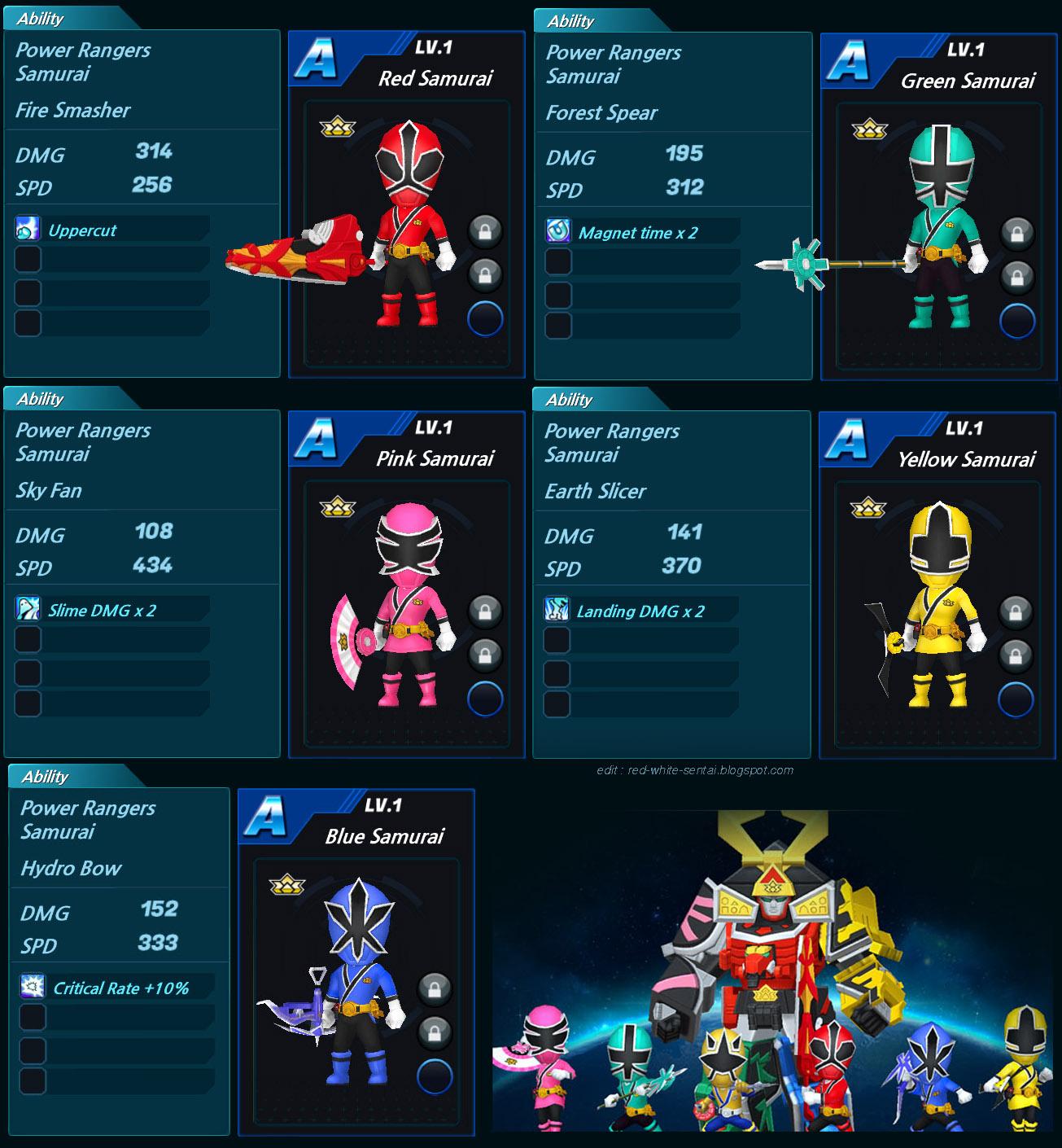 Red and White Sentai: Power Rangers Dash - Rangers Game ...