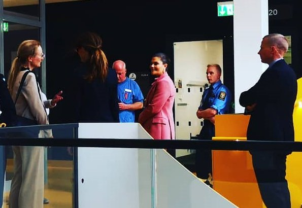 Crown Princess Victoria wore Rodebjer Nera Pink pantsuit and Crown Princess Victoria wore Rodebjer Xilla silk blouse