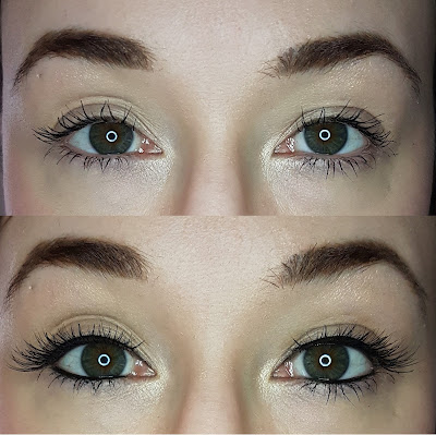 ESQIDO False Mink Eyelashes in Radiance before and after