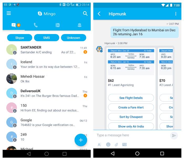Nuovo Skype Mingo per Android: tutto incluso | Download 2 HTNovo