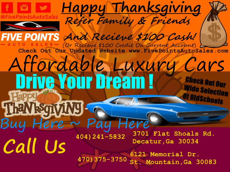 Five Points Auto Sales >> Five Points Auto Sales Thanksgiving Special