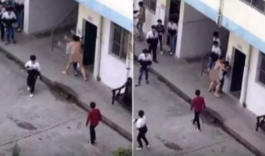 This Naked Teacher Attempted To S*xually Abuse A Female Student In Broad Daylight While Inside The Campus!