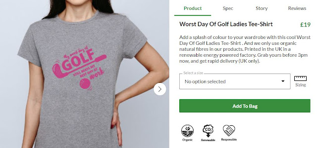 women's golfing tshirt girl golf shirt funny golfer crowd uk clothing