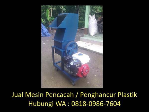 desain mesin penghancur plastik di bandung