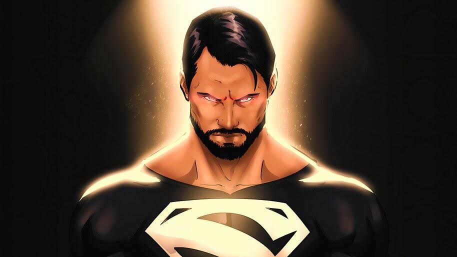 Superman, Black Suit, Justice League, Snyder Cut, 4K, #6.2386