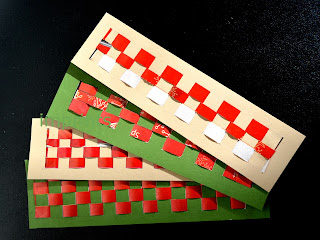 Recycle paper woven bookmarks