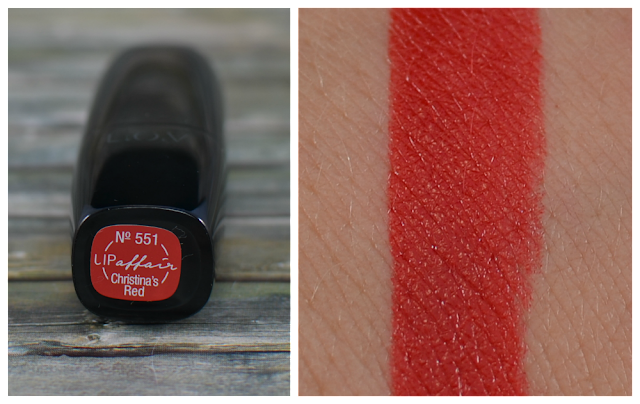 L.O.V lipaffair color & care lipstick 551 Christina's Red Swatch