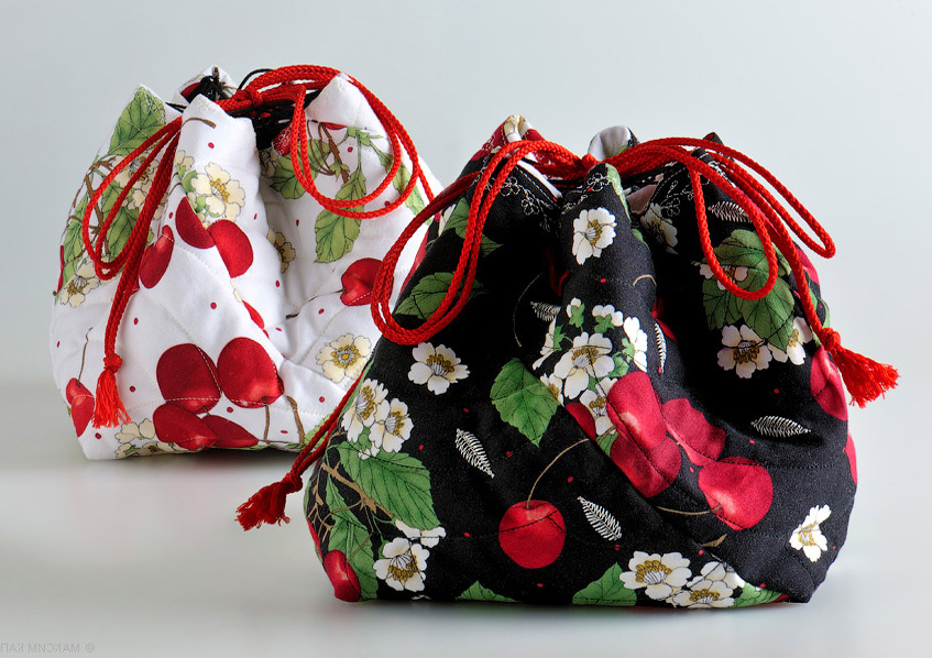 Tutorial Japanese Drawstring Bags Diy Tutorial Ideas
