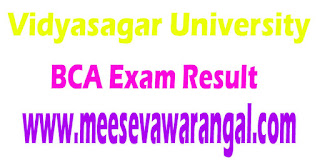 Vidyasagar University BCA VI Sem 2016 Exam Results