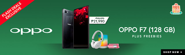 OPPO F7 128GB Diamond Black Exclusively Available on Shopee