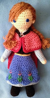 http://www.ravelry.com/patterns/library/anna---frozen-crocheted-doll-pattern