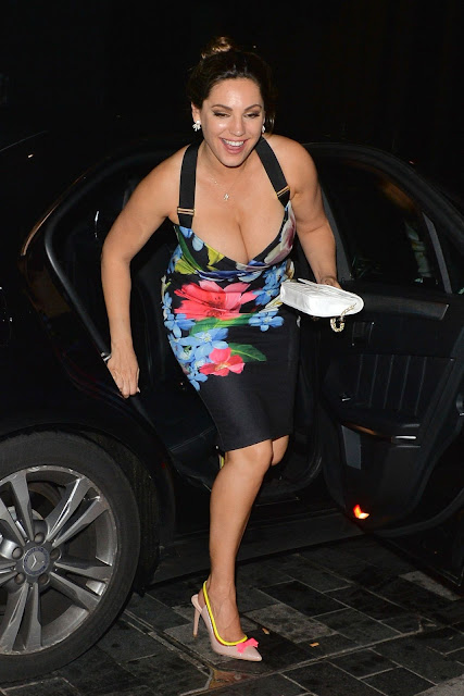 Kelly Brook Night Out in Mayfair in London