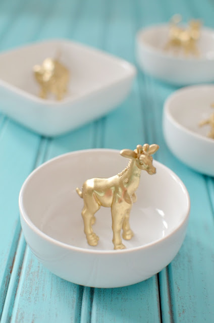 gold animal ring holder diy