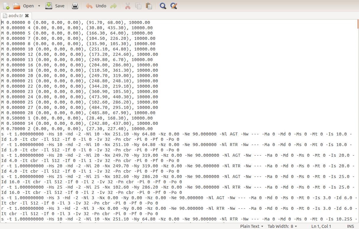 NETWORK SIMULATOR 2 0: TRACE FILES AND DESCRIPTION