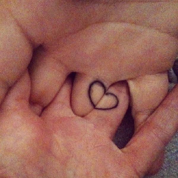 Hart Tatuaj de cuplu