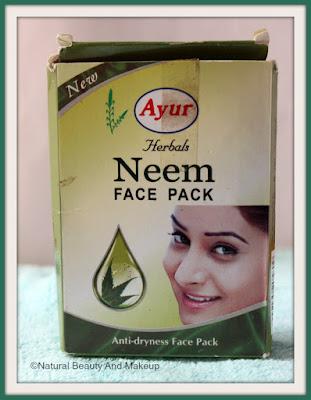 Ayur Herbals Neem Anti-Dryness Face pack packaging