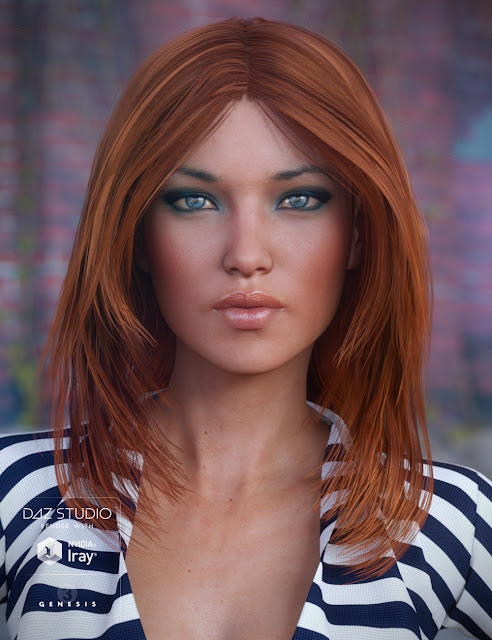 Flirty Hair for Genesis 3 Female