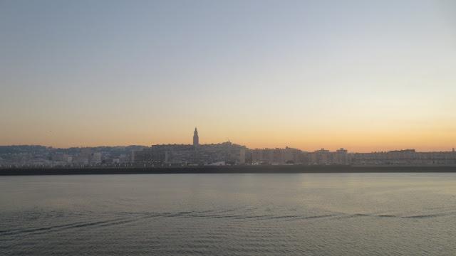 Le Havre vom Schiff aus - morgens um 7 Uhr