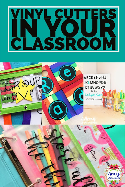 Click here to learn about using vinyl cutters such as Cricut and Silhouette in your classroom.  The information can be used in preschool, grade school, middle school and highschool.  You'll learn what vinyl and tools will be helpful for your machine.