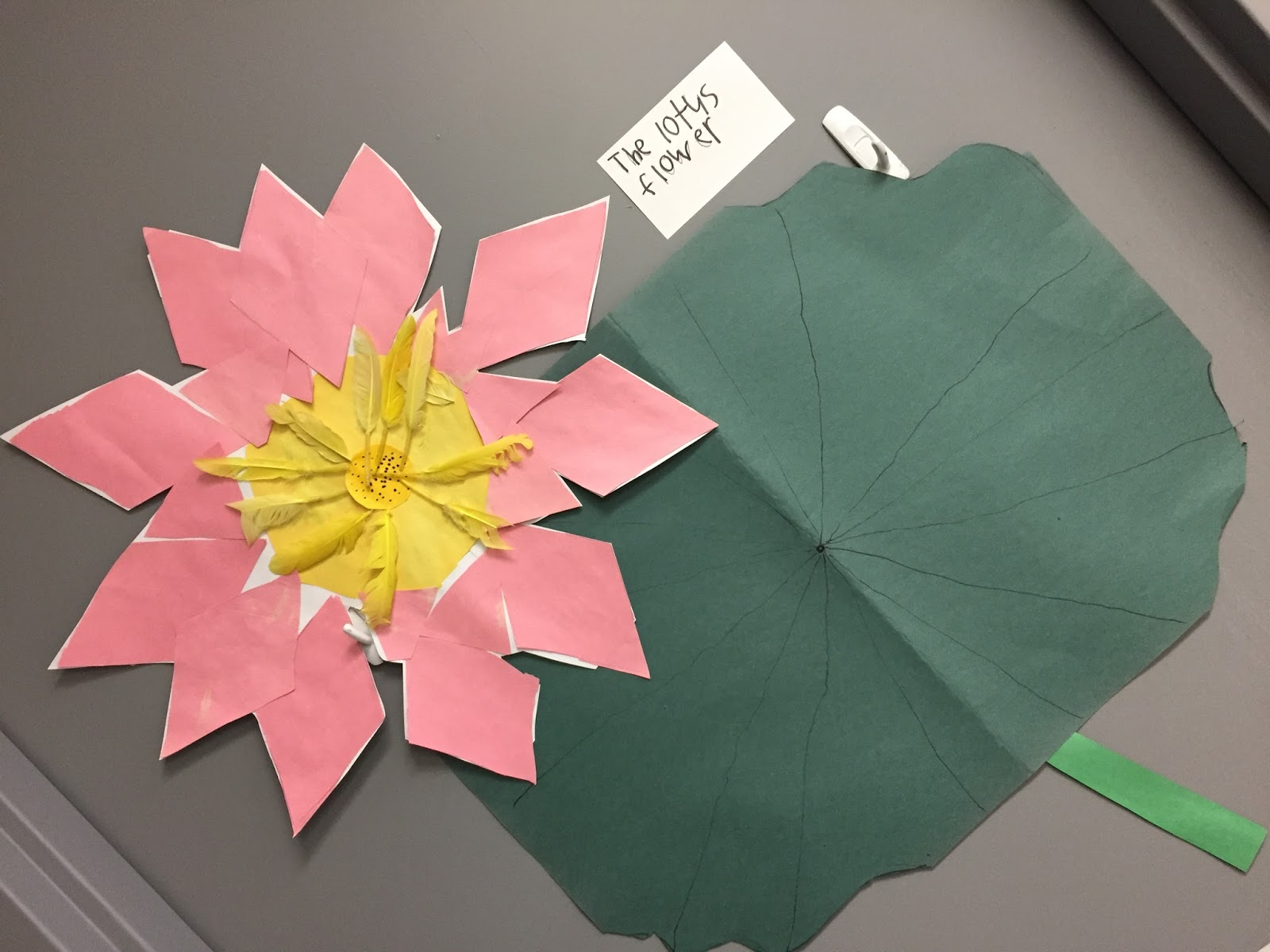 Thinking and learning in room 122 2018 these girls wanted to make a lotus flower so they worked together to cut out all the parts izmirmasajfo Image collections
