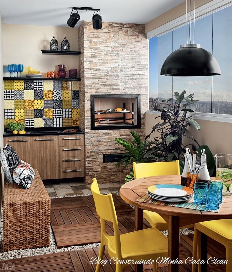 Construindo minha casa clean sacadas e varandas fechadas for Casa moderna 4 ambientes