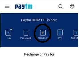 paytm bhim upi button