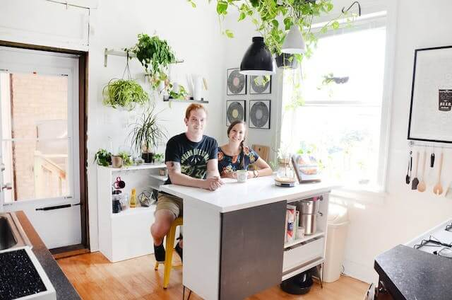 un hogar de alquiler, la cocina
