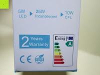 Garantie: 5er CRECO® 5W E14 LED Lampe Ersatz für 45W Glühlampen 2700K Warmweiß 320 Lumen LED Kerzenlampen LED Leuchtmittel[Energieklasse A+]