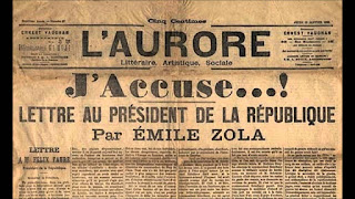 J'accuse…! (en francés Yo acuso) de Émile Zola es un alegato en favor del  capitán Alfred Dreyfus, en forma de carta abierta al presidente de Francia Félix Faure y publicado por el diario L'Aurore el 13 de enero de 1898 en su primera plana.