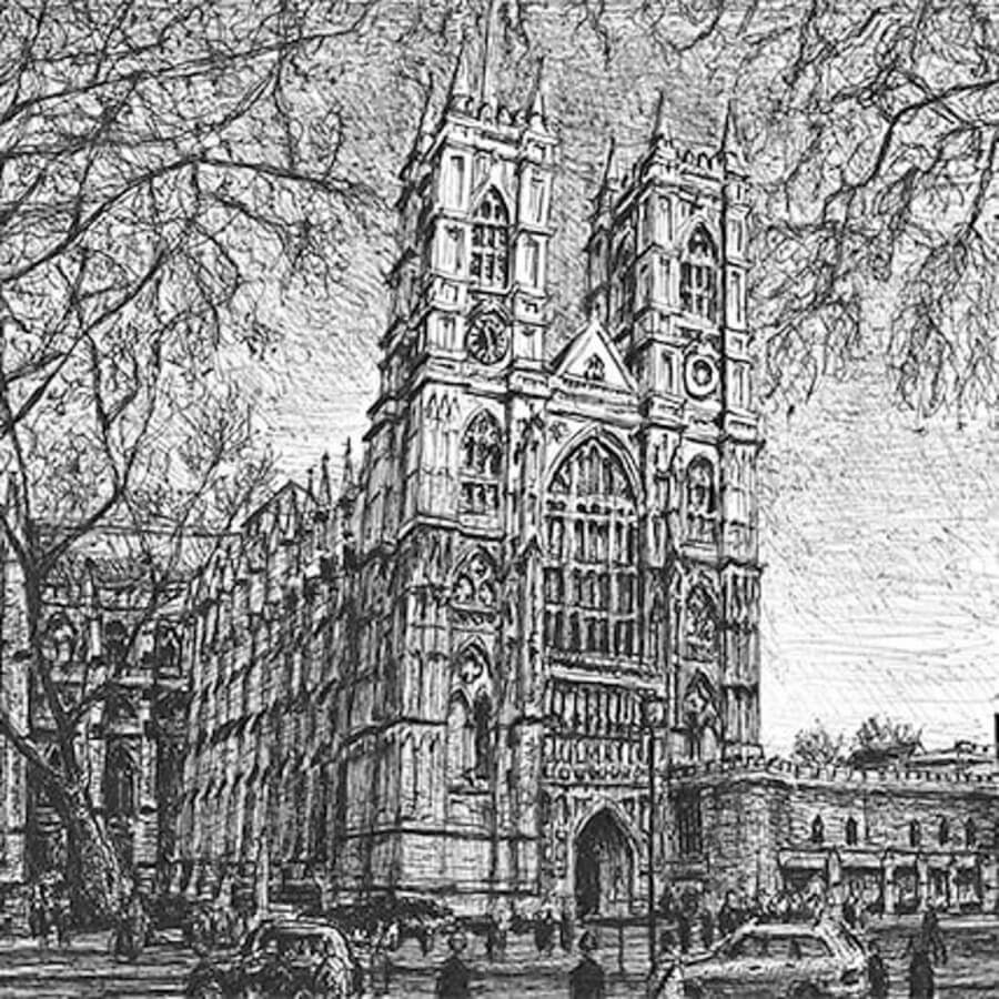 09-Westminster-Abbey-Stephen-Wiltshire-Urban-Cityscapes-www-designstack-co