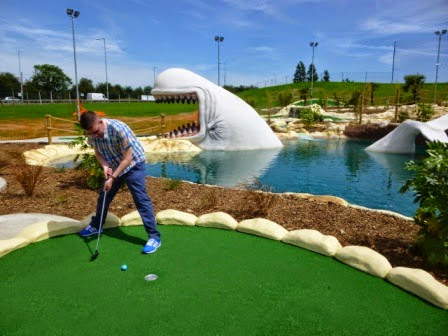 Richard Gottfried playing Moby Adventure Golf in Romford, Essex in June. The course was the 337th played